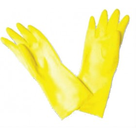 Chemical Gloves Yellow Latex