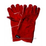 Welding Glove 14in Red Leather