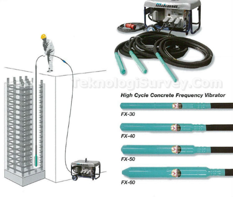High Cycle Concrete Vibrator MIKASA